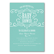 Sweet Swirls - Baby Shower Invitation